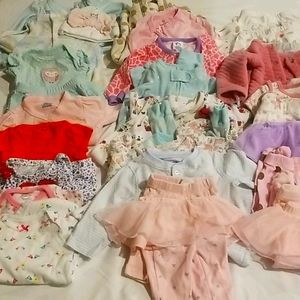 30 Pieces of New Born/0-3 Months Clothes